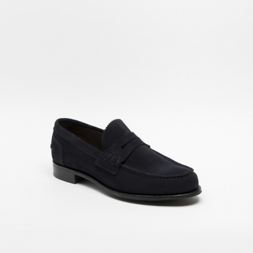 Cheaney Dover dark navy suede loafer