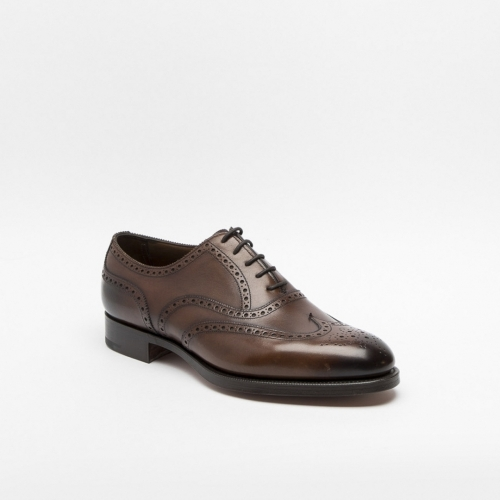 Edward Green Malvern lace up shoe in dark oak antique calf