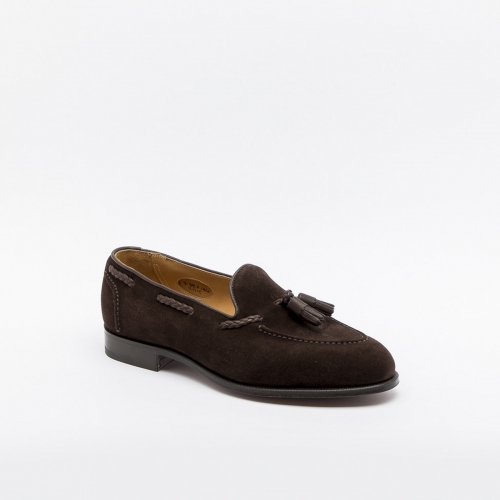 Edward Green Belgravia loafer in dark oak antique calf with tassels