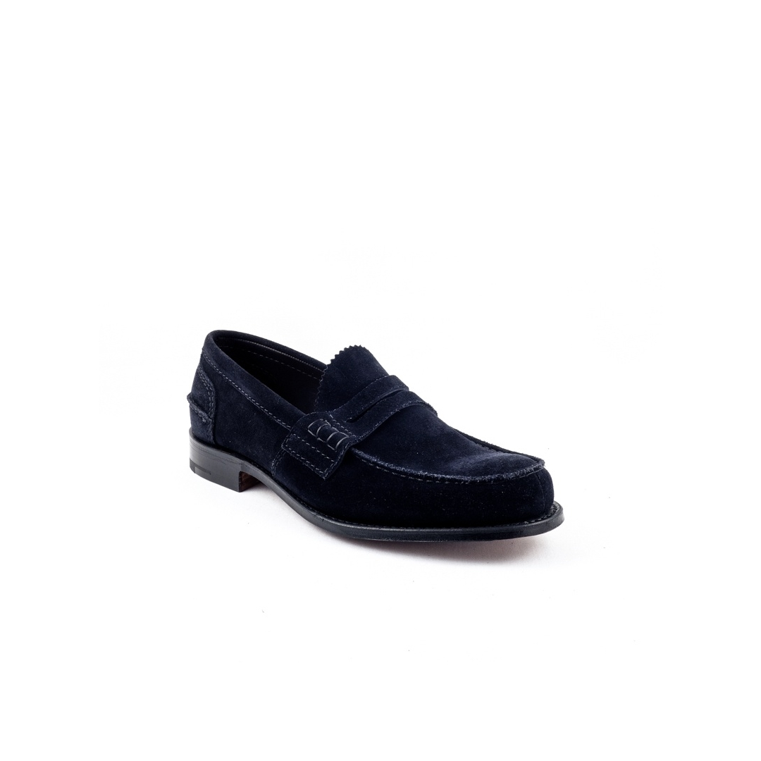 b6dc2e7530d Loafer Church s Pembrey in blue navy suede. Loading zoom