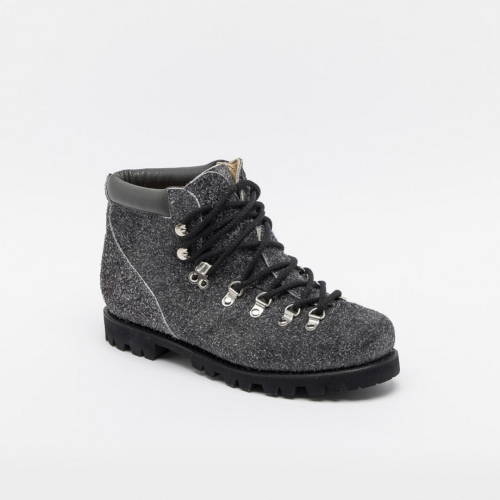 Paraboot Avoriaz Jannu grey overturned leather ankle boot
