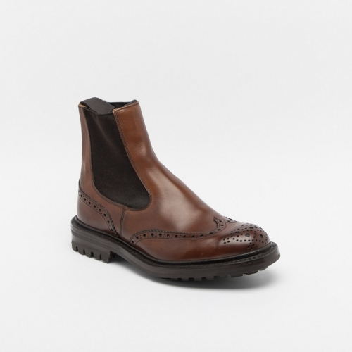 Tricker's Henry chestnut full brogue ankle boot
