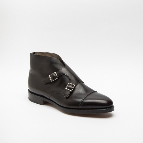 Polacco John Lobb William II in pelle marrone con fibbie
