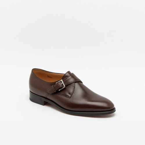 Scarpa John Lobb Ashill fit EE in pelle marrone dark oak