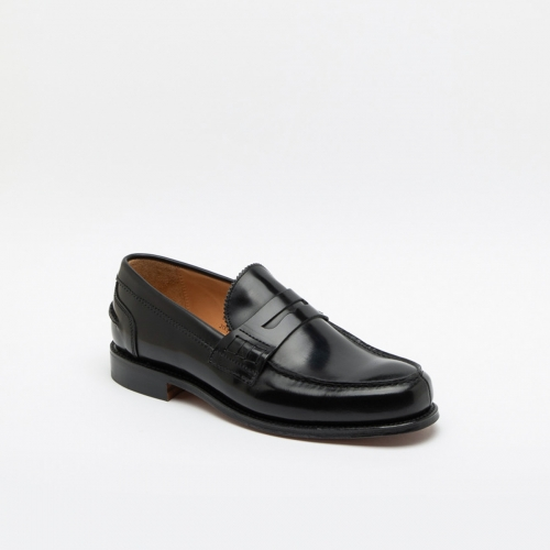 Mocassino Cheaney Joseph & Sons Dorking in pelle nera