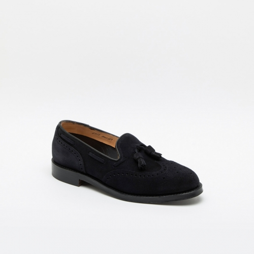 Cheaney Joseph & Sons Simon navy suede loafer