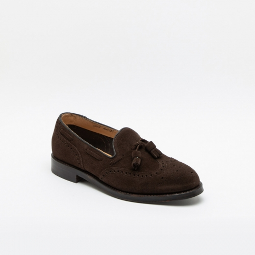 Cheaney Joseph & Sons Simon brown suede loafer