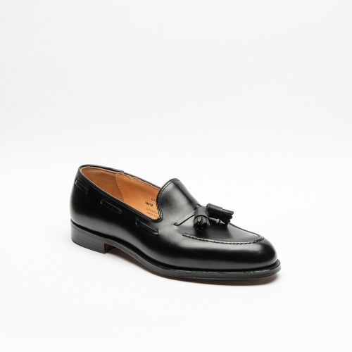 Mocassino Crockett & Jones Cavendish in pelle nera con nappine