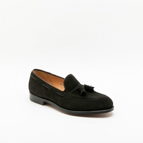 Mocassino Crockett & Jones Cavendish 2 in camoscio nero