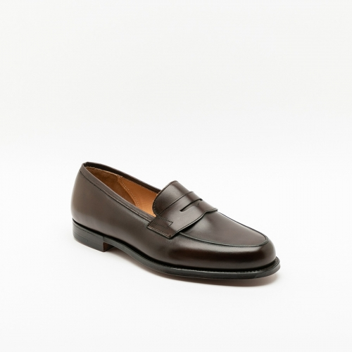Mocassino Crockett & Jones Grantham in pelle burnished testa di moro