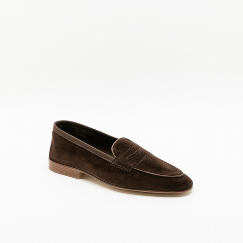 Polperro Edward Green pepper baby calf loafer