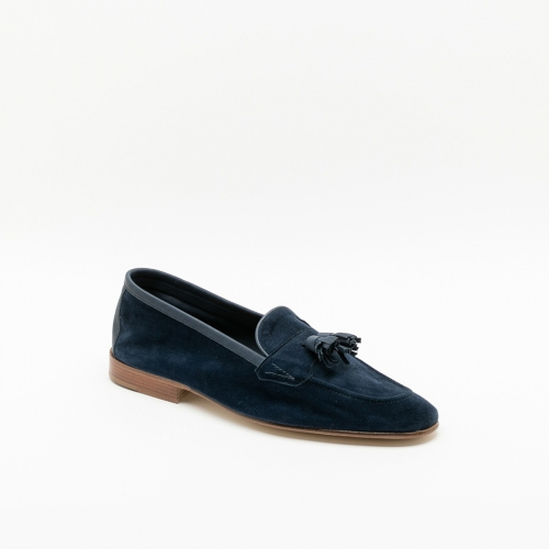 Edward Green Portland navy baby calf loafer
