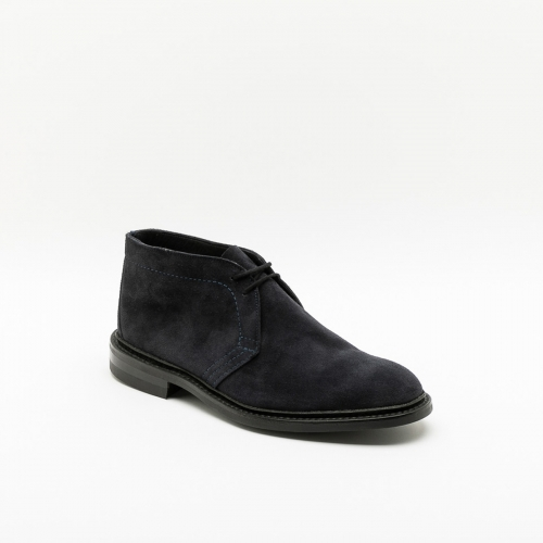 Tricker's Polo blue suede ankle boot