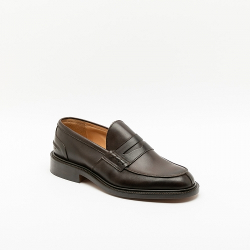 Tricker's James dark brown funchol calf loafer