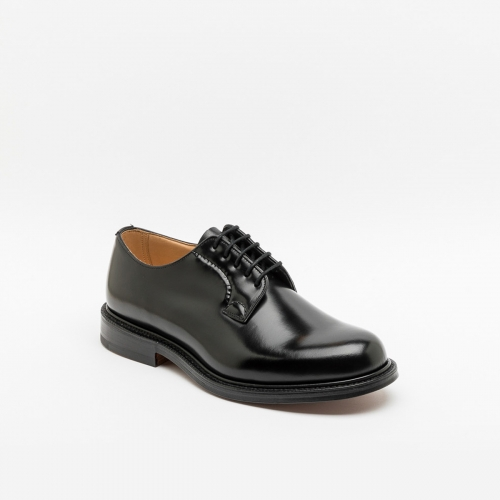 Lace-up shoe Church's Shannon brushed leather black