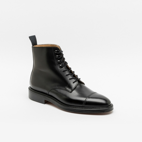 Polacco stringato Crockett & Jones Harlech in pelle nera