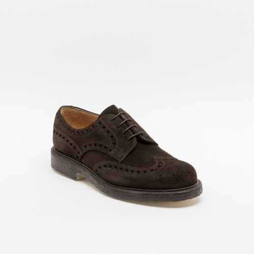 Cheaney Joseph & Sons Avon brown suede derby shoe