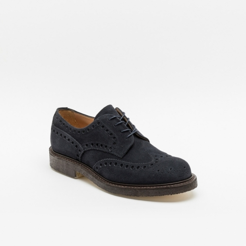 Cheaney Joseph & Sons Avon blue suede derby brogue