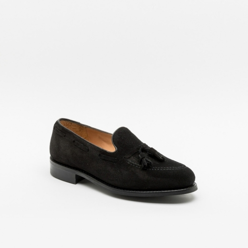 Mocassino Cheaney Joseph & Sons Boston II in camoscio nero