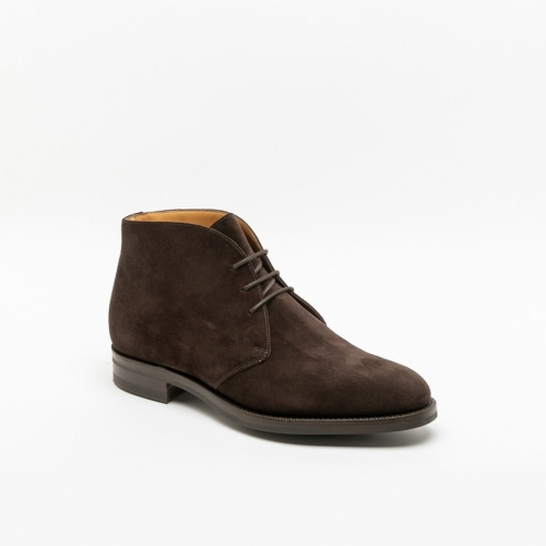 Edward Green Banbury espresso suede ankle boot