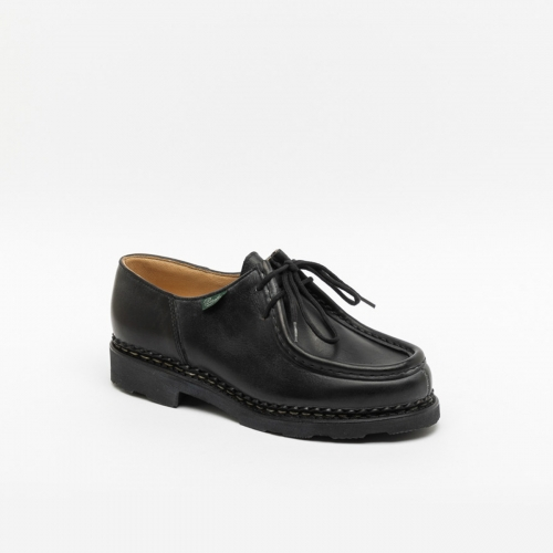 Paraboot Michael Griff II women's lace-up loafer in black leather