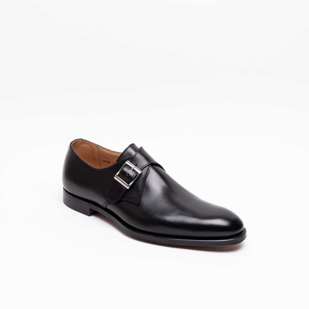 Scarpa con fibbia Crockett & Jones Swindon in pelle nera