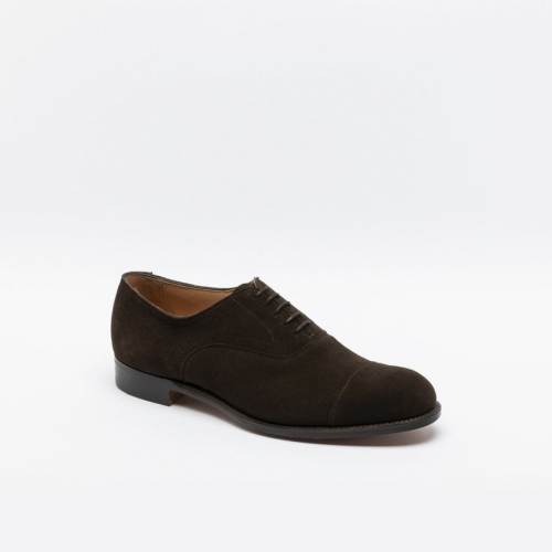 Scarpa stringata Cheaney Alfred in camoscio marrone