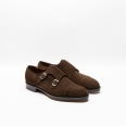 Edward Green Westminster brown suede monk strap