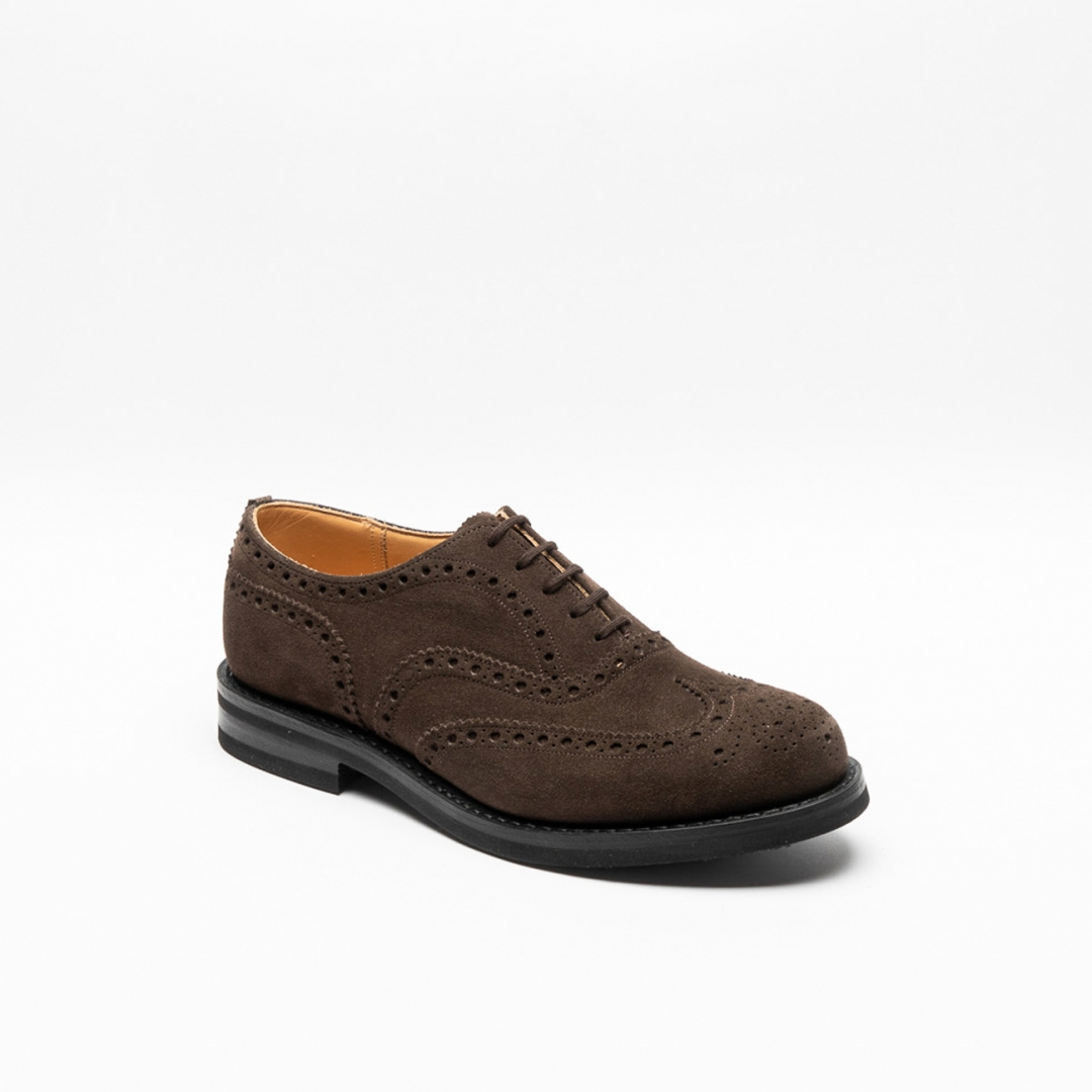 Stringata oxford Church's Amersham in camoscio marrone