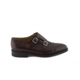 Shoe John Lobb William II fit E in claret misty cald with double buckle