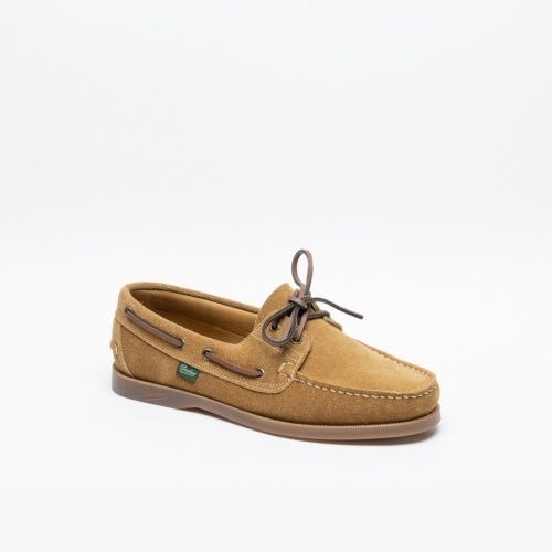 Paraboot Barth tobacco suede boat loafer