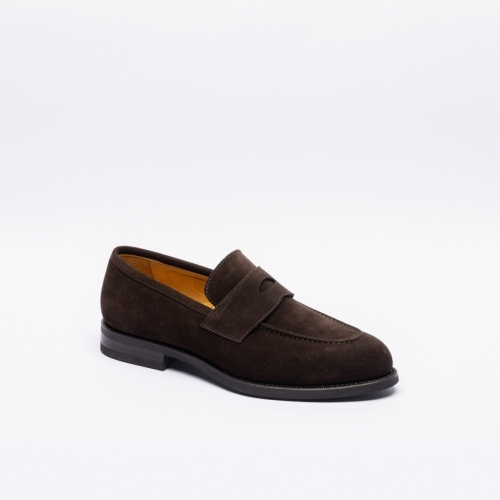 Borghini 1001 brown suede penny loafer