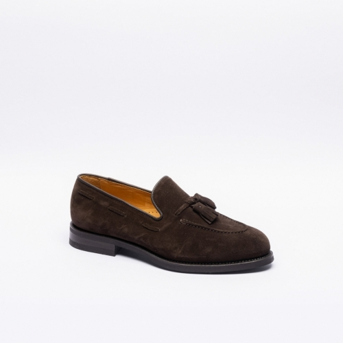 Borghini 1003 brown suede tassels loafer