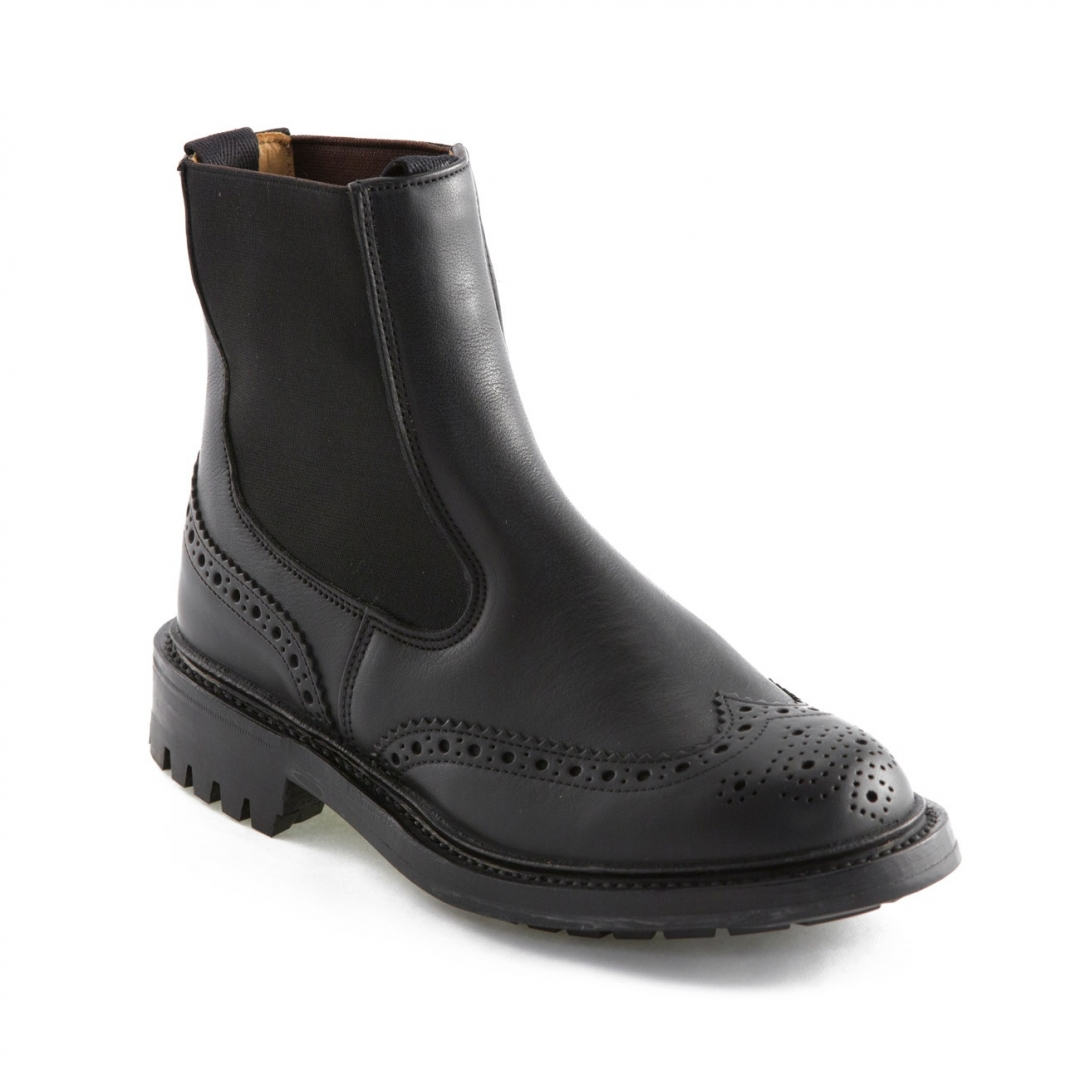 Tricker's Silvia black calf ankle boot