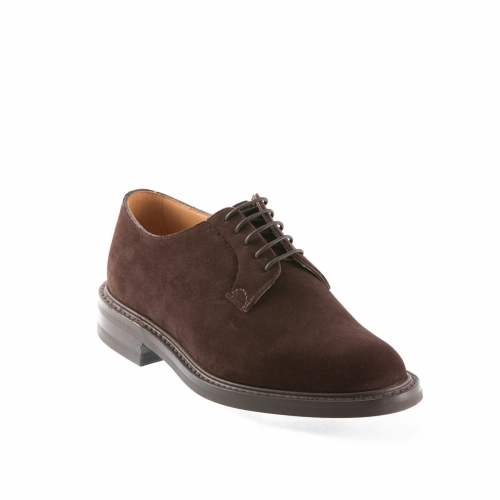 Lace-up shoe in brown suede Church's Shannon R 224