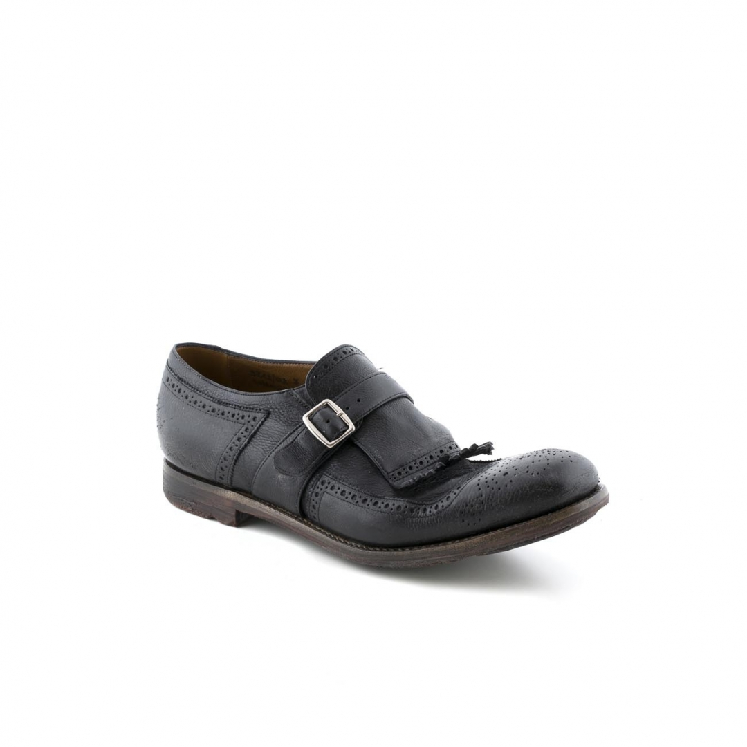 663859efcdd Church s Shanghai black vintage calf shoes with buckle and fringe. Loading  zoom