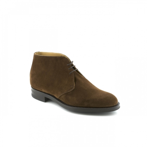 Edward Green Banbury lace-up ankle boot in coffee suede