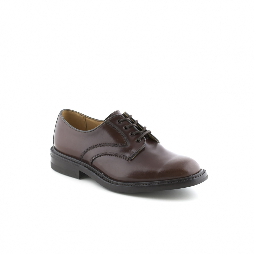 Tricker's Bradley lace up shoe leather cordovan mahogany