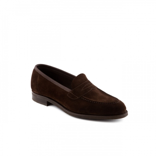 Loafer Edward Green Ventnor in mocca suede with mask