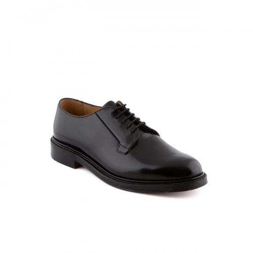 Shoe lace-up Cheaney Deal in black hi shine calf