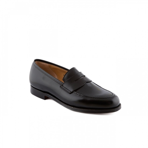 Mocassino Crockett & Jones Boston in pelle cavalry nera con mascherina