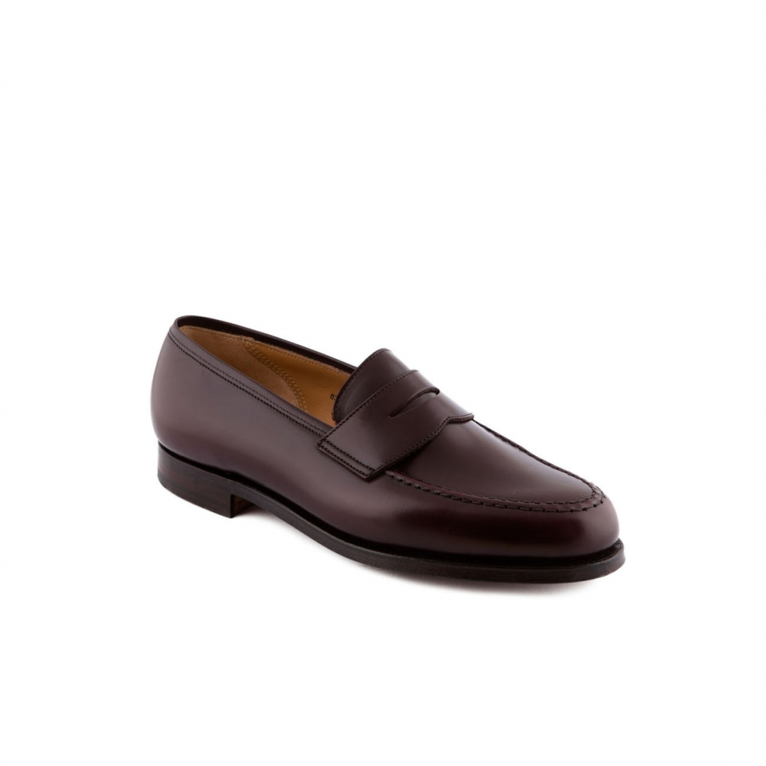Loafer Crockett Amp Jones Boston In Burgundy Cavalry Calf