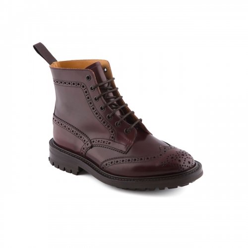 Boot lace-up Tricker's Stow burgundy cordovan