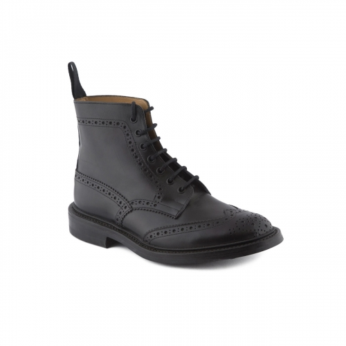 Boot lace-up Tricker's Stow black box calf