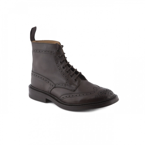 Boot lace-up Tricker's Stow espresso burnished calf